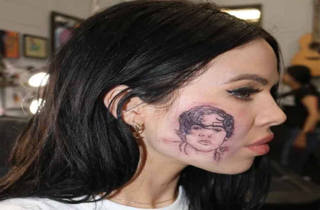 Aussie Girl Gets Harry Styles Tattooed On Her Face For His Birthday