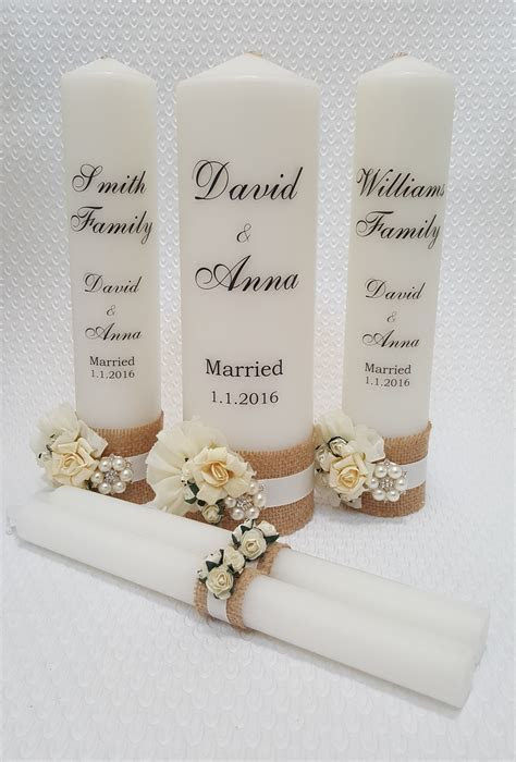 Wedding Candle / Unity Set Design G ? Special Day Candles