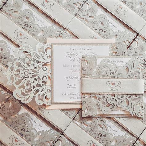 Winter wedding invitations   Broadway design silver and