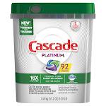 Cascade Platinum Dishwasher Detergent Actionpacs, 92-count