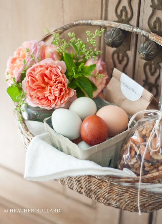 Love this basket...  @Annie Allen you could totally give this with eggs from your chickens!