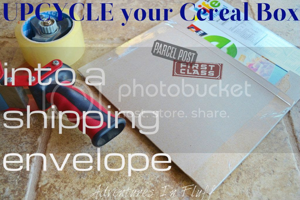 Upcycle your cereal box into a shipping envelope