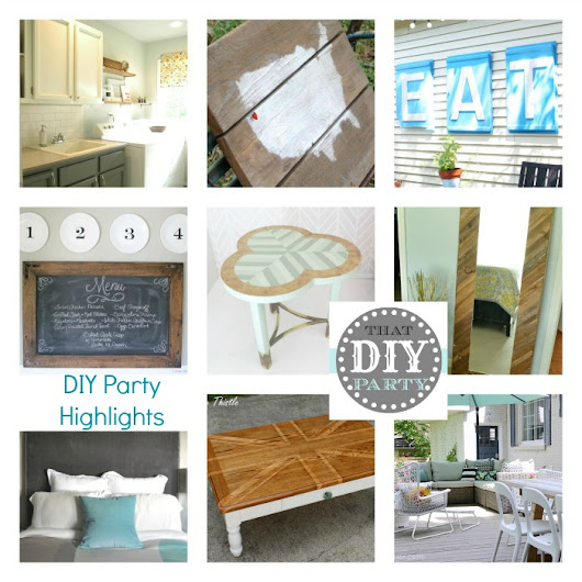 My Chevron Table Feature on {DIY Show Off}
