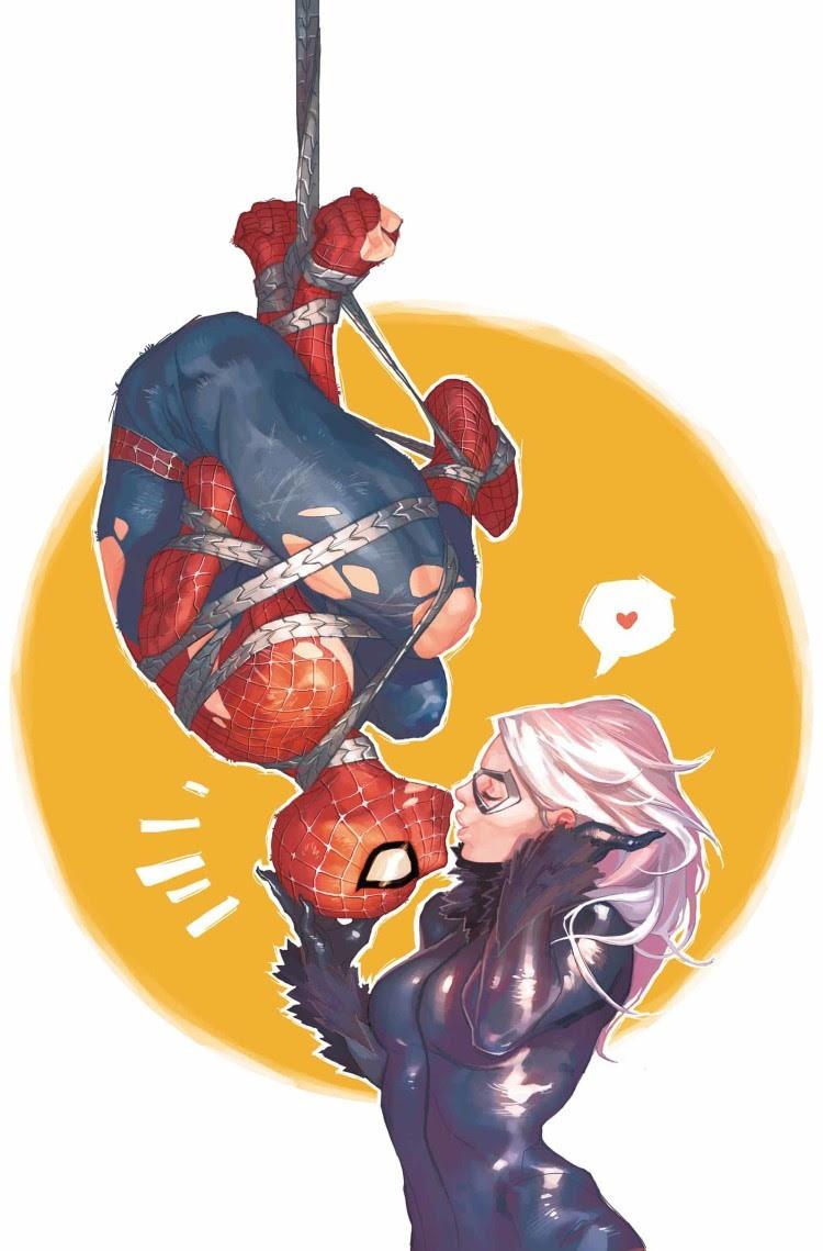 Spider-Man & Black Cat by Yasmine Putri