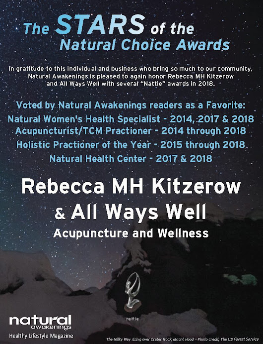 5 Time Nattie Award Winning Acupuncture in Portland and La Center