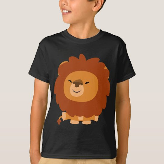Cute Cuddly Cartoon Lion Children T-Shirt