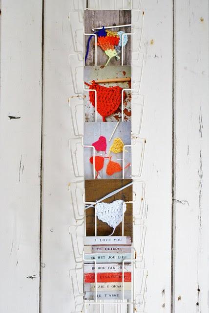 wood & wool postcards