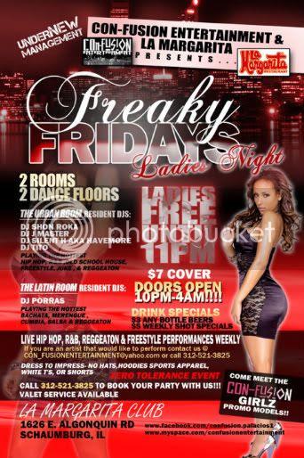 Shon Roka,Freaky Fridays,Confusion Entertainment,La Margaritas,Club,Nightlife,Chicago,Schaumburg,Heat,Hip Hop,Brickheadz,Bassment Boyz