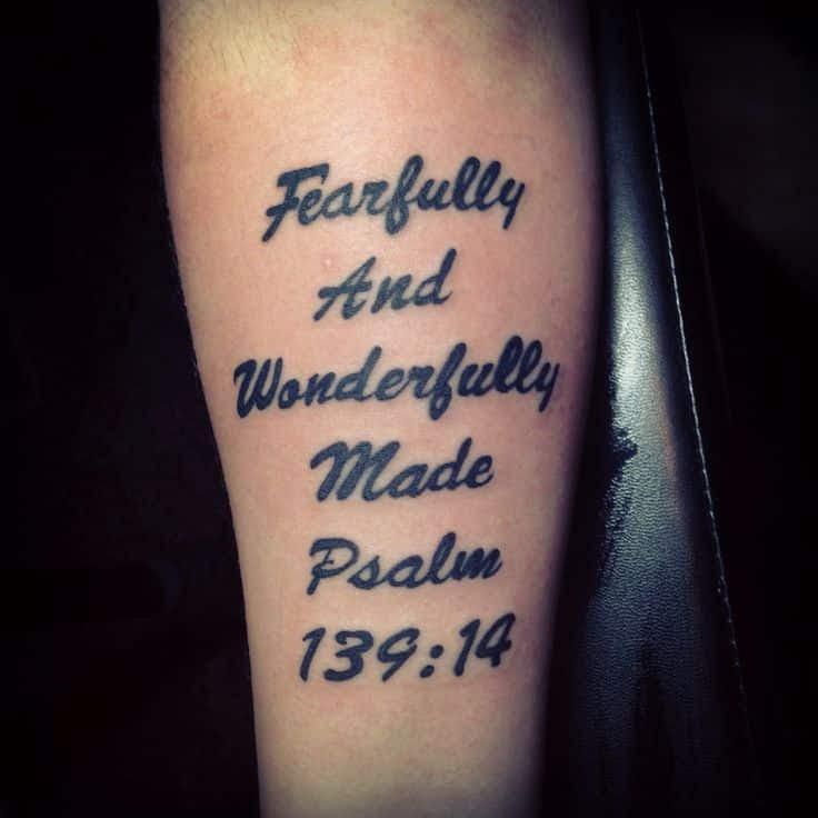 Bible Verse Tattoo On Arm Best Tattoo Ideas