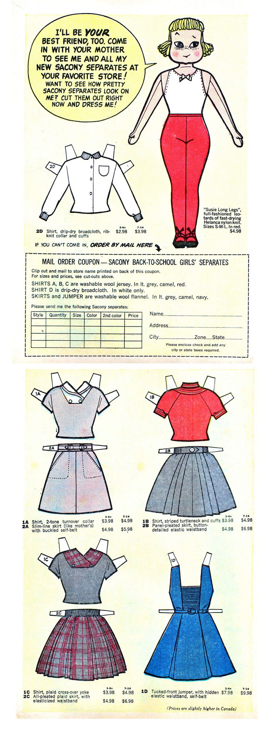 Sue the Magic Manikin Paperdoll (1957)