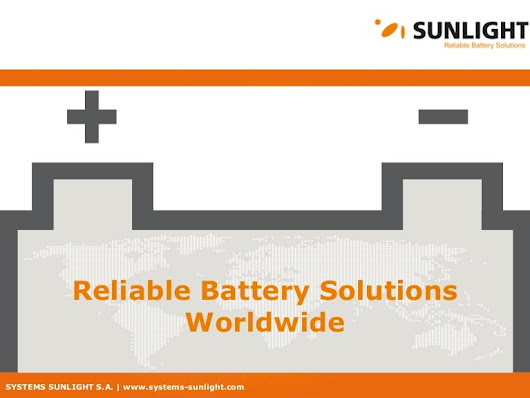 SYSTEMS SUNLIGHT S.A. // Reliable Battery Solutions // Corporate Pres…