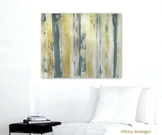 Metallic Abstract Painting Precious Metals Contemporary