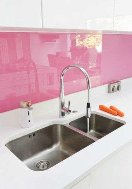 Nice pink kitchen