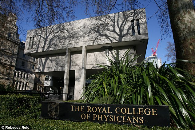 Report: The Royal College of Physicians (above, in London) wants local authorities to be given the power to close or divert roads to reduce the volume of traffic, especially near schools, when pollution levels are high