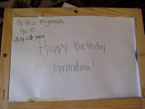Happy Birthday Gramma!