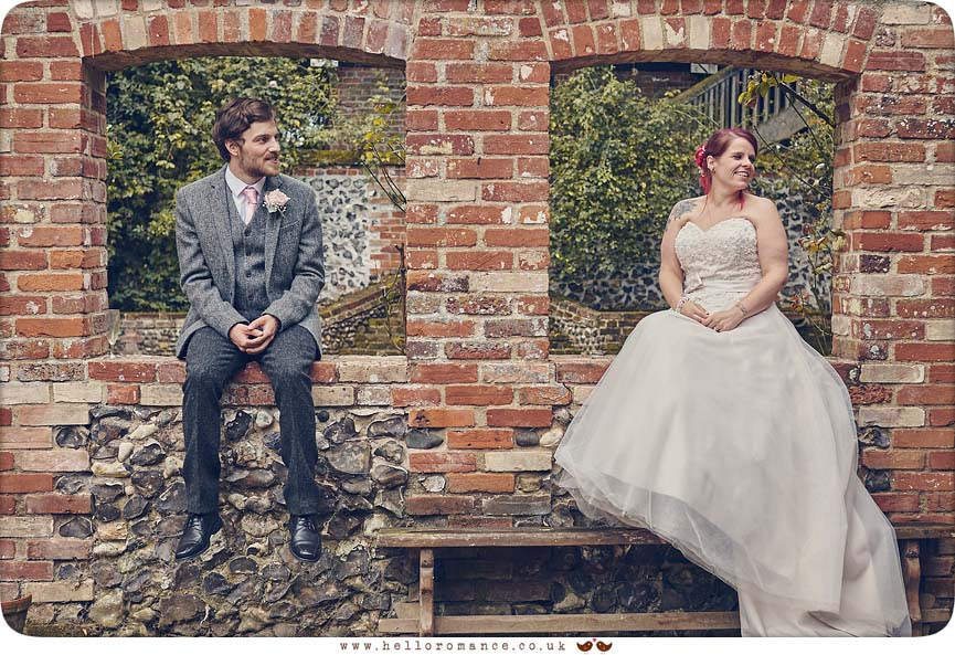 Cute photo of bride and groom at English wedding - www.helloromance.co.uk