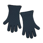 Mr. Bar-B-Q Products 257123 Grill Zone Silicon Gloves Dark Gray - Pack of 2