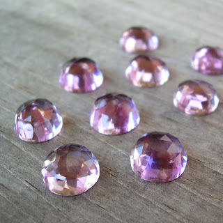 faceted amethyst cabochon
