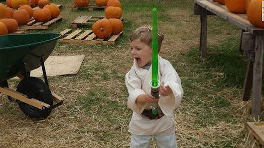 The Force is strong with this 4-year-old fighting cancer