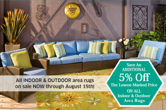 Summer SEATING Event! Indoor & Outdoor rugs now on sale!