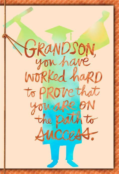 Path to Success Grandson Graduation Card   Greeting Cards