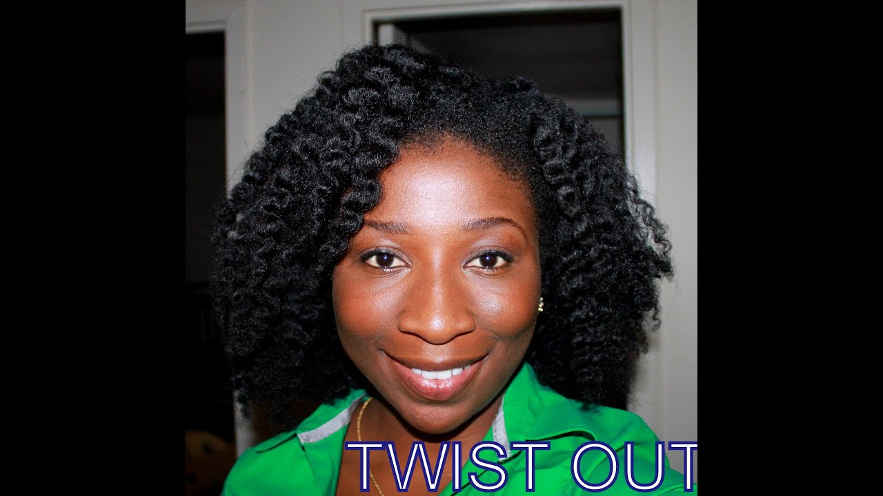 32) My best Twist Out yet on 4C Natural Hair - YouTube