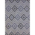"Microfiber Extra Soft Touch Area Rug 5'4"" x 7'5"" / White Black"