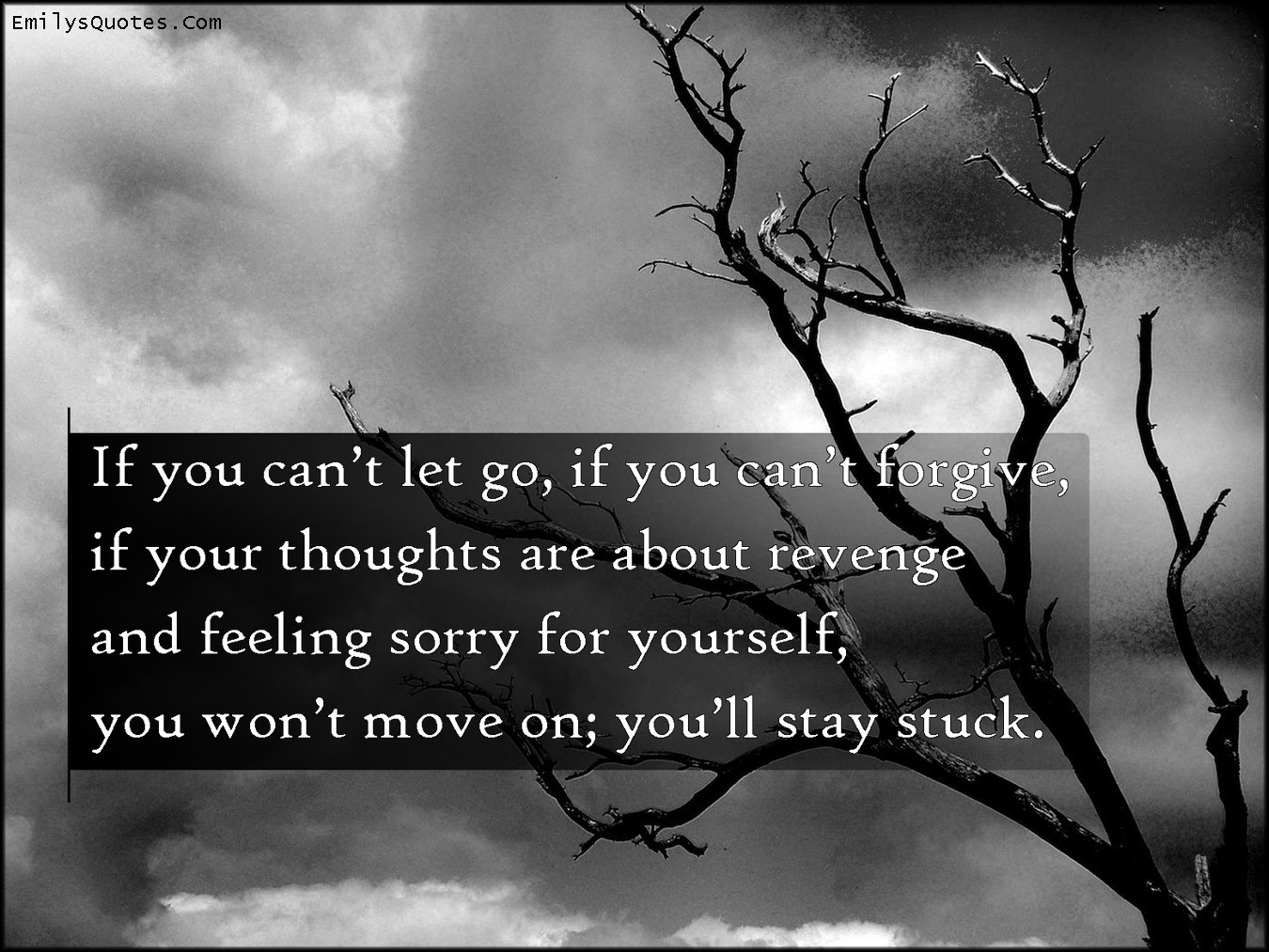 If You Cant Let Go If You Cant Forgive If Your Thoughts Are