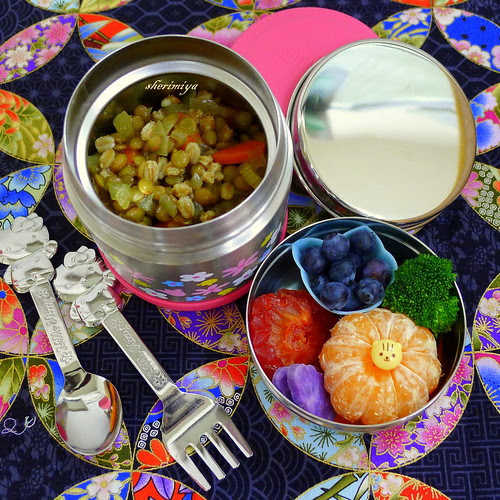 Curried Lentil Farro Soup Bento by sherimiya ♥