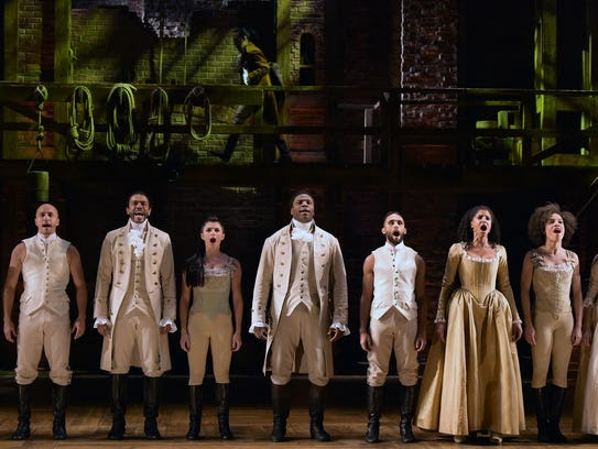 """The cast of """"Hamilton"""" performs at the 58th Grammy"""