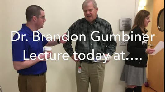Dr. Brandon Gumbiner Lecture, Start Your Year Off on the Right Foot
