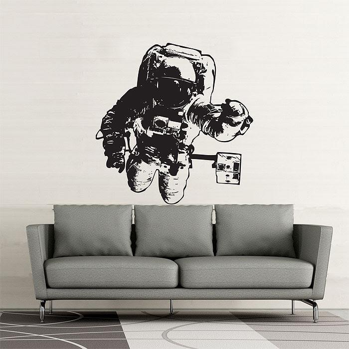 Astronaut Raumfahrer Wandaufkleber Wandtattoo