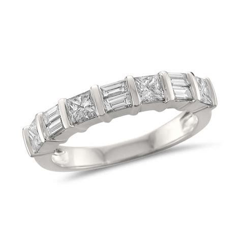1 CT. T.W. Baguette and Princess Cut Diamond Wedding Band