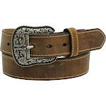 Ariat Women's Heavy Stitching Edge Belt Brown