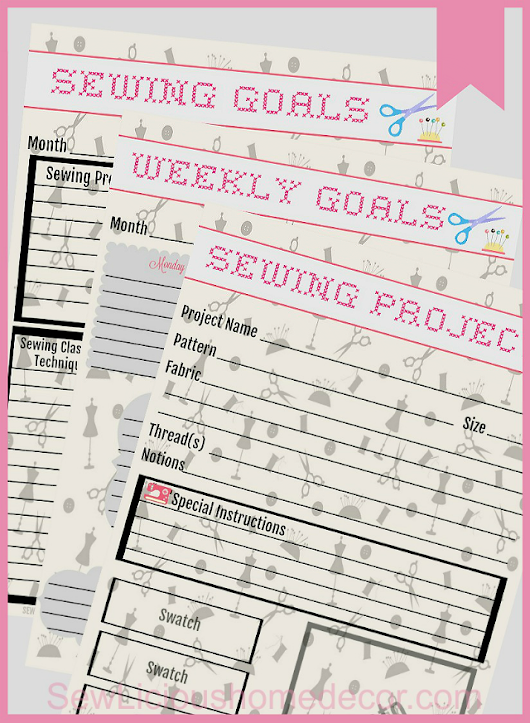 Free Sewing Printables Monthly Planner - Sew Licious Home Decor