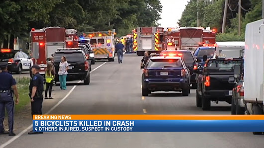 5 killed, 4 injured after bicyclists hit by pick-up driver