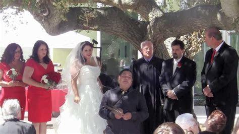 Jill & Miles Lang Ceremony at Chumash Museum Thousand Oaks