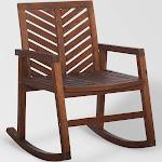 Chevron Outdoor Patio Rocking Chair - Dark Brown - Saracina Home