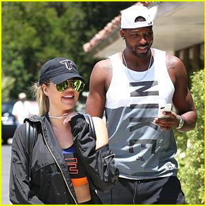 Khloe Kardashian & Boyfriend Tristan Thompson Hit the Gym Together in Calabasas