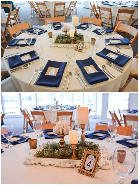 Nautical Navy, Emerald, and Gold Virginia Beach Wedding by