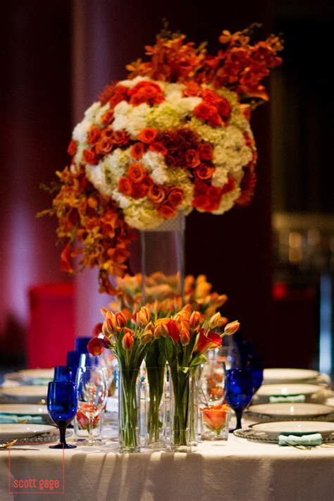 Calgary wedding planner   Luxe magazine blue & orange