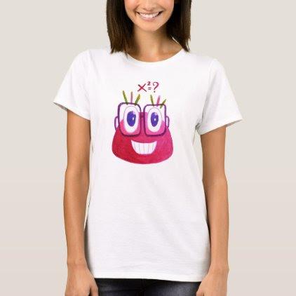 Cute Watercolor Geek Candy Character Mathematician T-Shirt