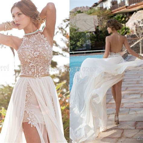 2016 Bride Dress Beach Chiffon lace Wedding Dresses Sexy