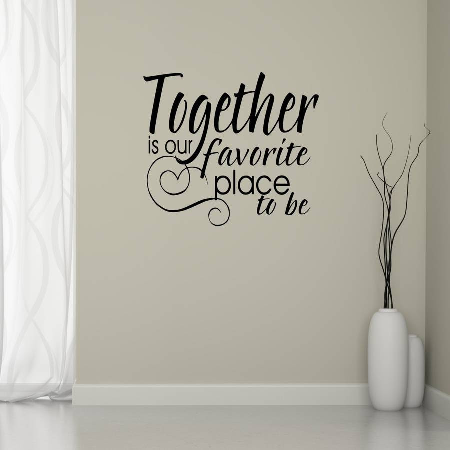 together quote wall sticker by mirrorin