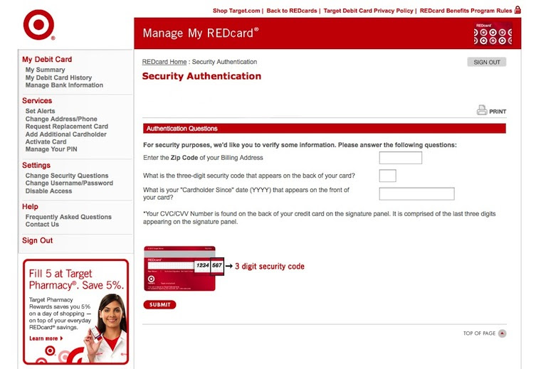 How to Change Your REDcard Debit Card Pin Number