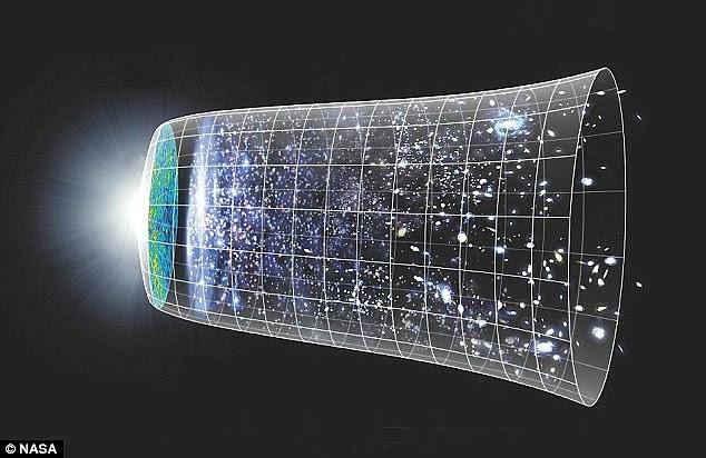 """A teoria segue outro postulado por cientistas em dezembro. Eles propuseram que, no momento do Big Bang (ilustrado), um """"universo de espelho"""" fosse criado, que se movia na direção oposta ao longo do tempo - e os seres inteligentes em cada um percebem que o outro se movia para trás"""