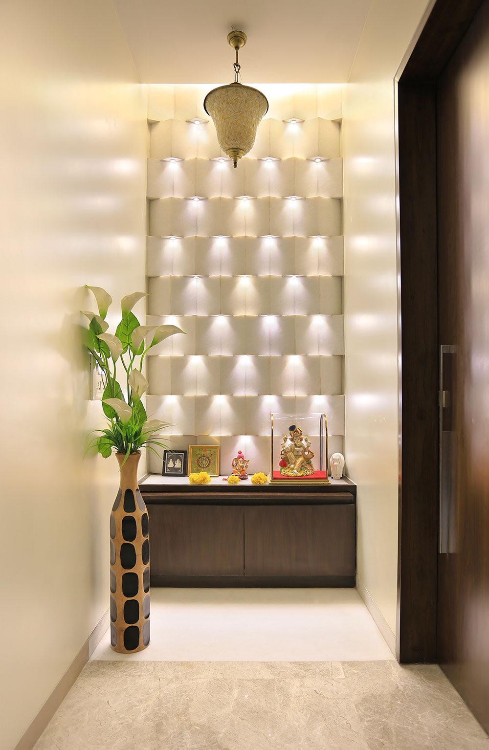 Pooja Space in the Corridor