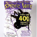 White Spider Web Halloween Decoration