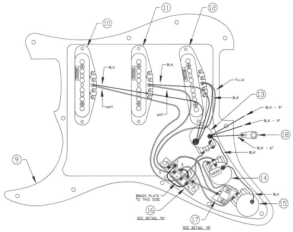 Fender Strat Plu Wiring Diagram
