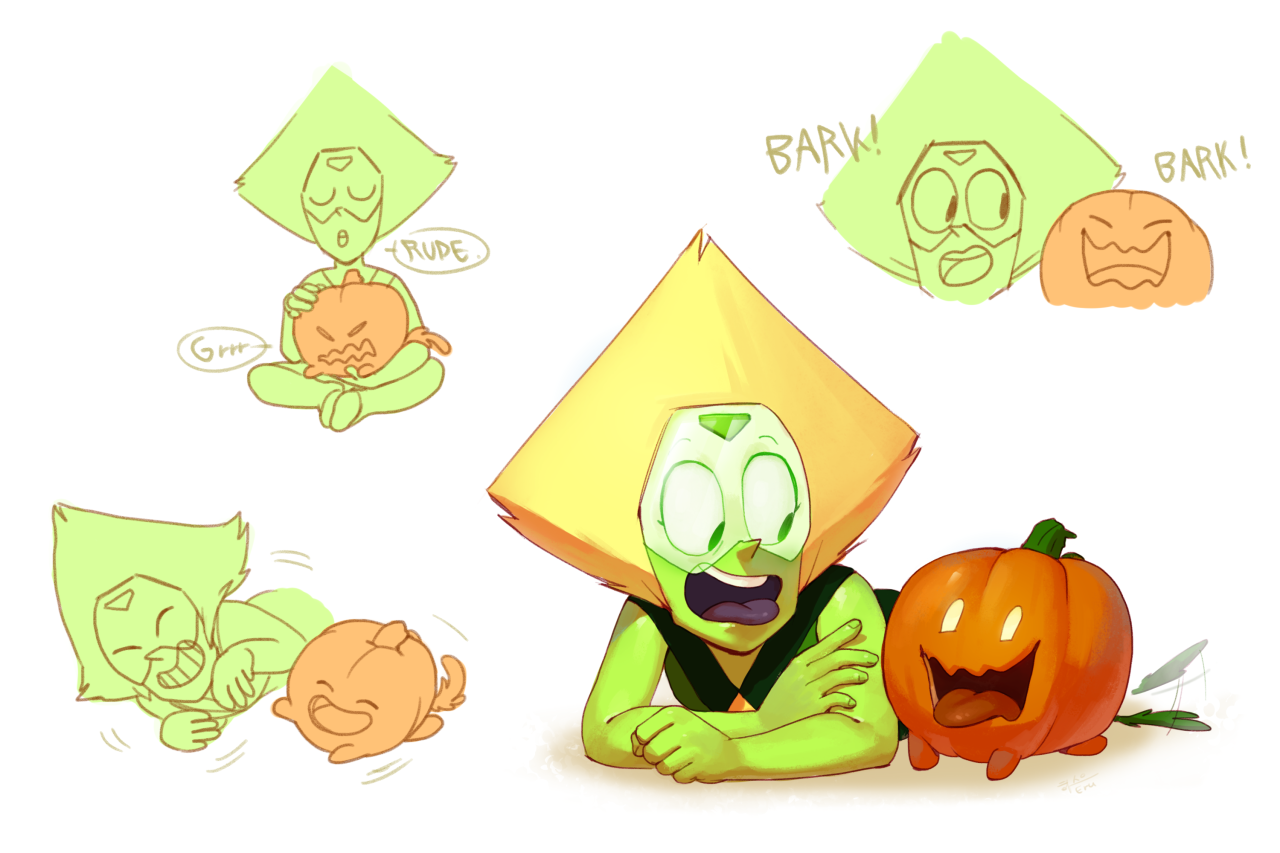 Peridot and the pumpkin